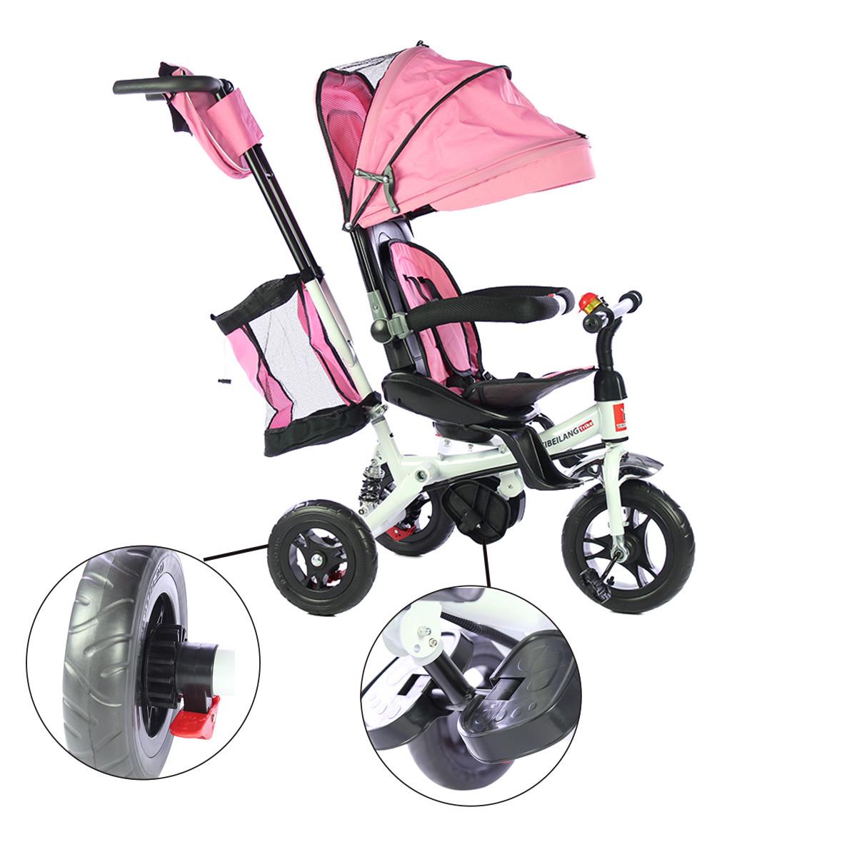 miniatura 17 - Triciclo-con-Capota-para-Ninos-Transformable-Pacifier