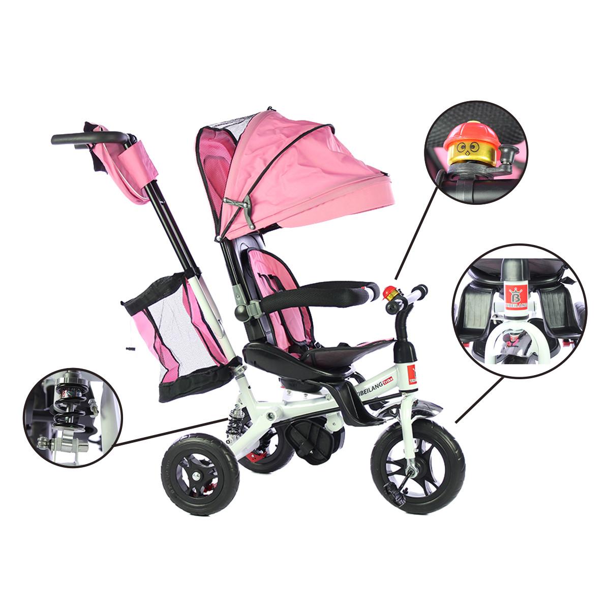 miniatura 18 - Triciclo-con-Capota-para-Ninos-Transformable-Pacifier