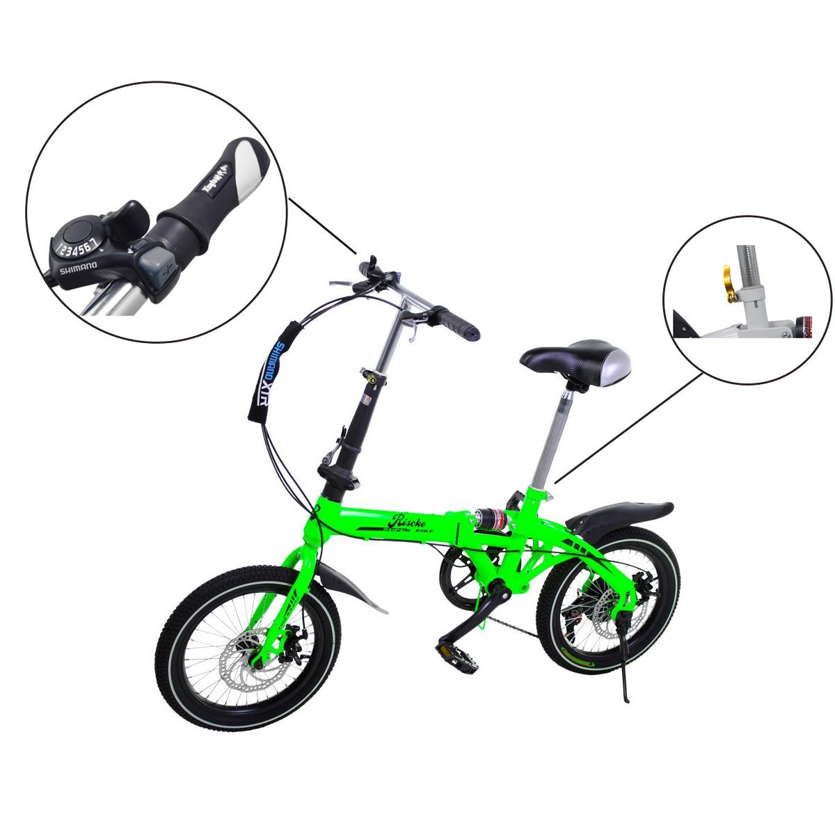 miniatura 15 - Bicicleta-plegable-con-ruedas-de-16-039-039-modelo-Super-Bike