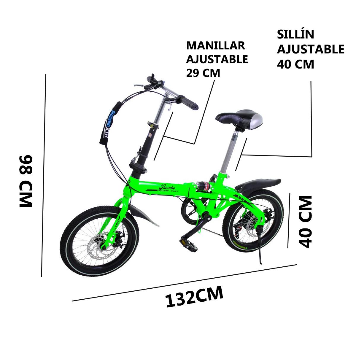 miniatura 14 - Bicicleta-plegable-con-ruedas-de-16-039-039-modelo-Super-Bike