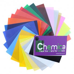 Muestrario de colores vinilo tránsfer textil Chemica Firstmark