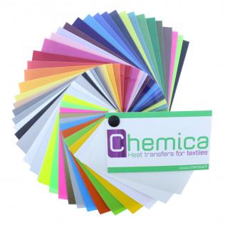Muestrario de colores vinilo tránsfer textil Chemica Darklite - Hotmark Sir - Magic Flex - Reflex - Upperlock