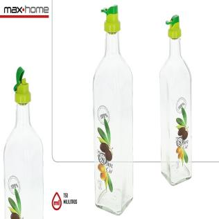 Botella aceitera decorada 750ml Olive