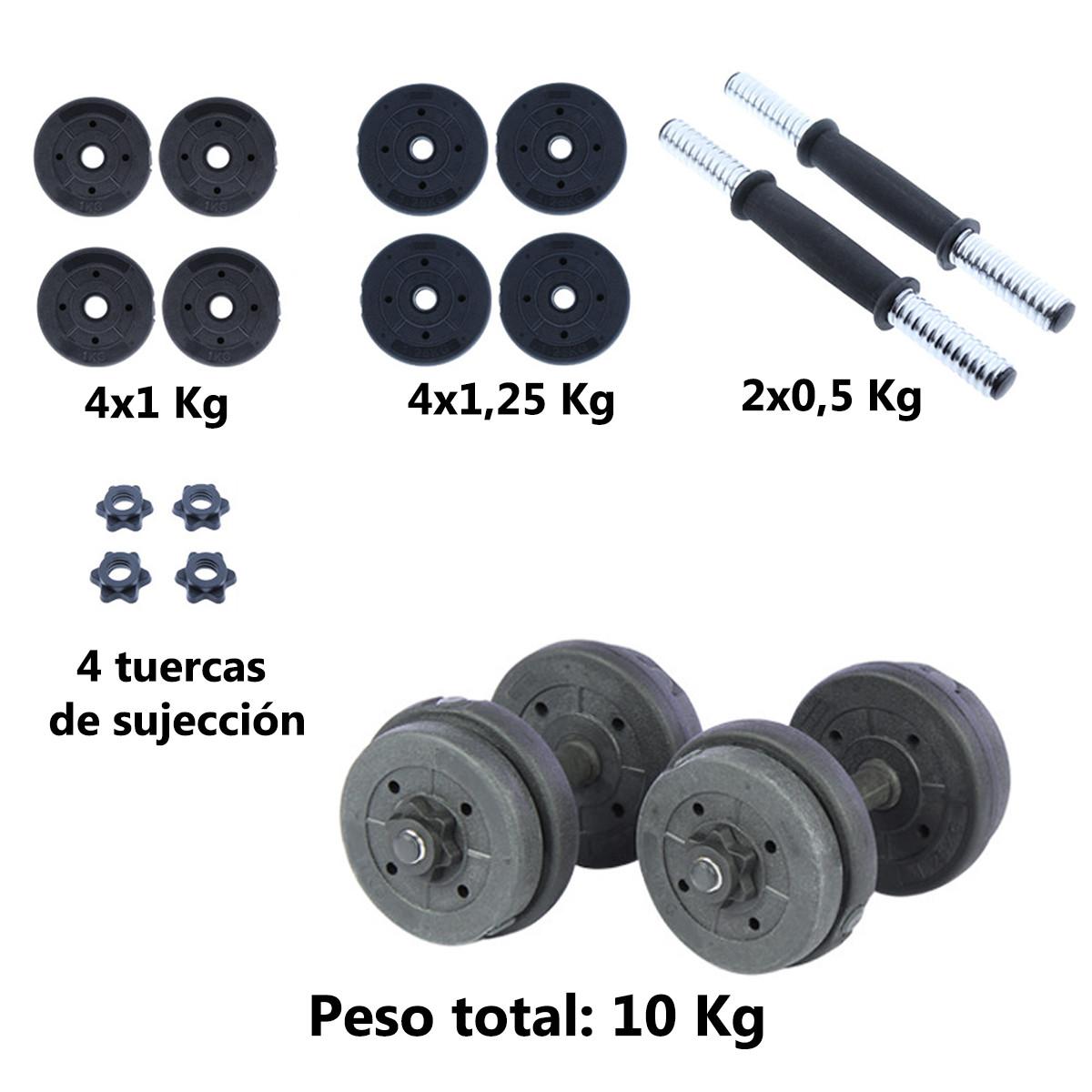 Juego-de-mancuernas-ajustables-con-discos-varios-pesos-Risc miniatura 3
