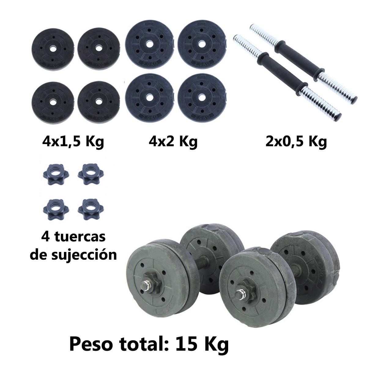 Juego-de-mancuernas-ajustables-con-discos-varios-pesos-Risc miniatura 33