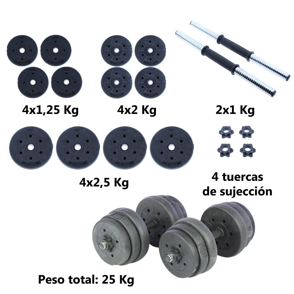 Juego-de-mancuernas-ajustables-con-discos-varios-pesos-Risc miniatura 42