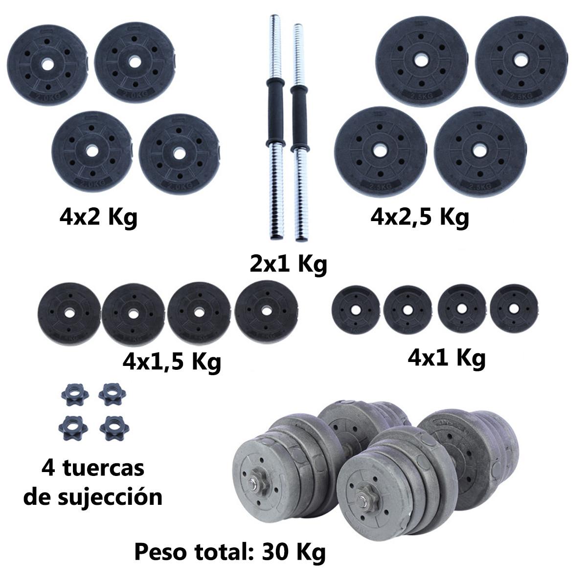 Juego-de-mancuernas-ajustables-con-discos-varios-pesos-Risc miniatura 52