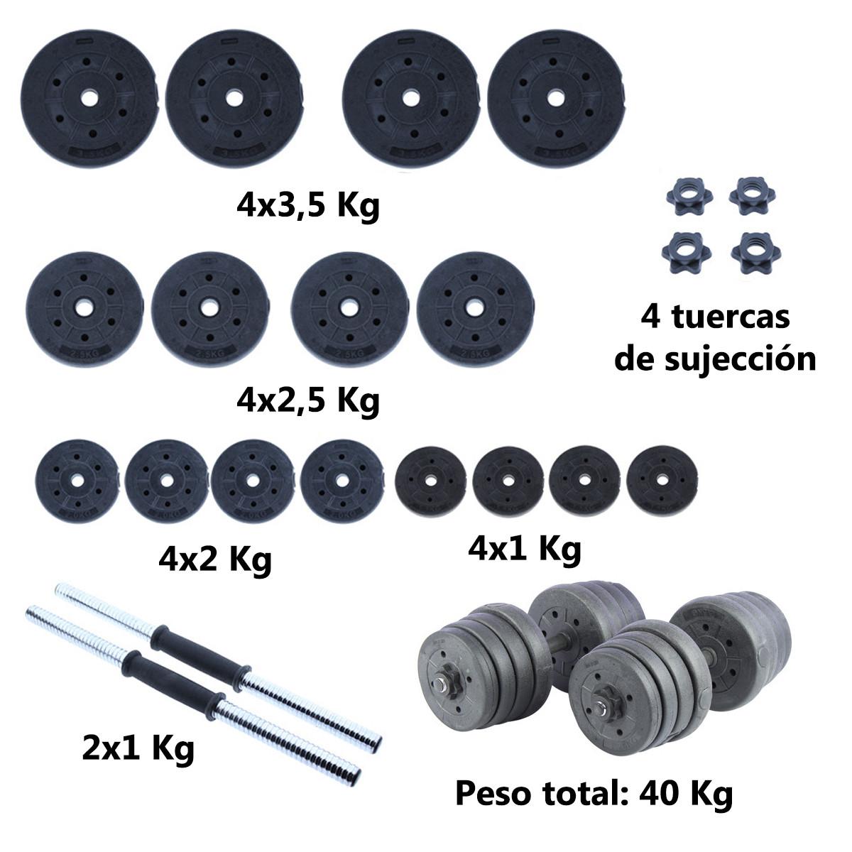 Juego-de-mancuernas-ajustables-con-discos-varios-pesos-Risc miniatura 22