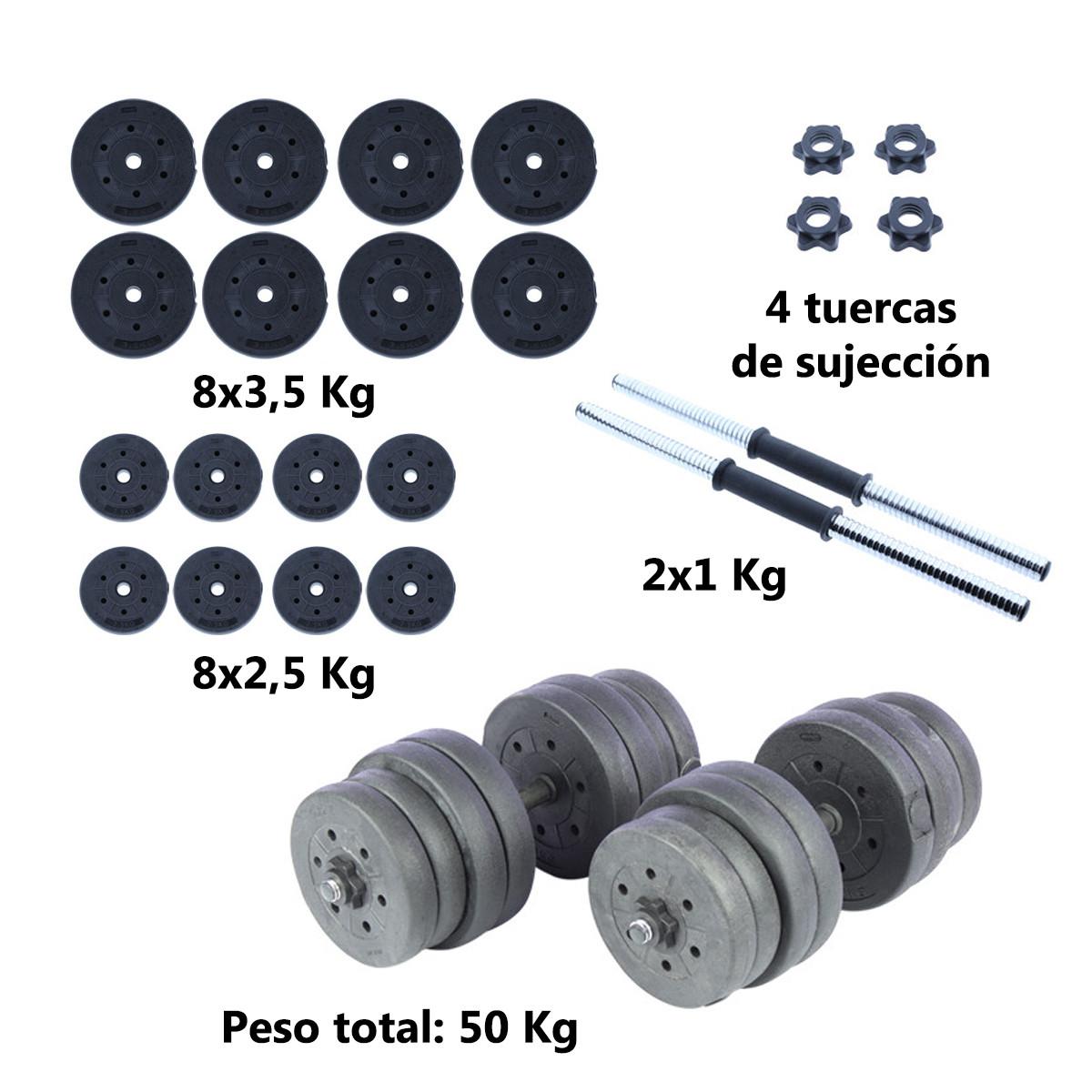 Juego-de-mancuernas-ajustables-con-discos-varios-pesos-Risc miniatura 63