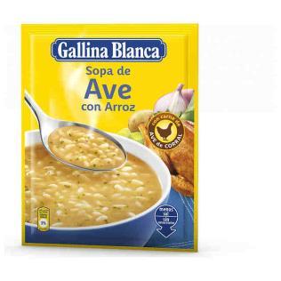 Sopa G.Blanca std Ave/Arroz 85gr