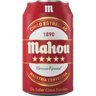 Cerveza mahou 5st lata 33cl