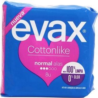 Evax Cottonlike Normal Compresas Con Alas 16u