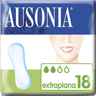 Ausonia Clásica Extraplana Compresas Sin Alas 18u