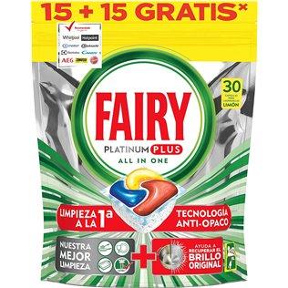 Fairy Platinum Plus Limón 4X(15+15) Cápsulas Para Lavavajillas