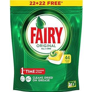 Fairy Original Todo En 1 Limón Cápsulas De Lavavajillas Pack De 42Unidades