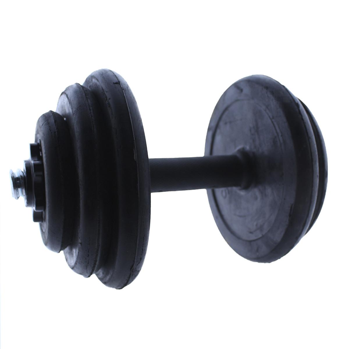 Set-de-mancuernas-ajustables-Negras-con-discos-de-Goma-10kg-12kg-15kg-20-k miniatura 17