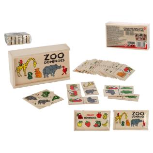 DOMINO INFANTIL 28 PZAS ANIMALES / FRUTAS