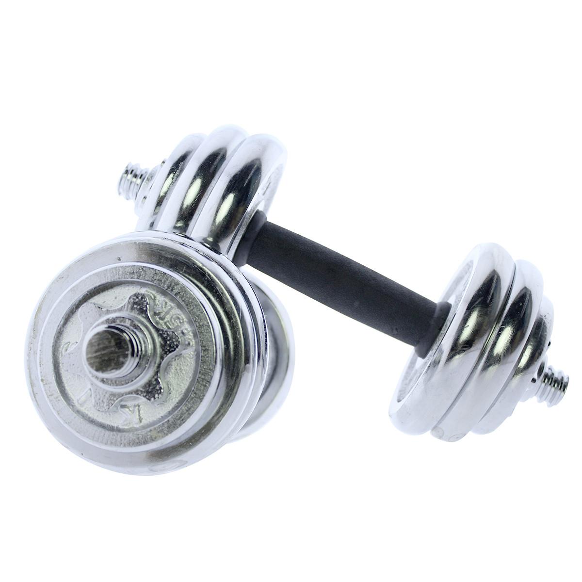 Set-de-mancuernas-ajustables-cromadas-10kg-15kg-20kg-Riscko miniatura 16