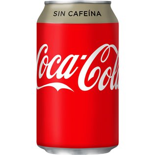 COCA COLA SIN CAFEINA LATA 33cl.