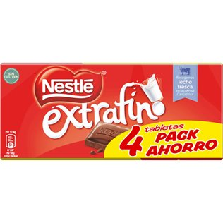 CHOCOLATE NESTLE EXT LECHE 4X125