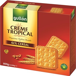 GALLETA GULLON CREME TROPIC 800g