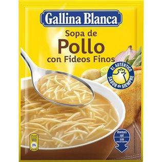 SOPA G.BLANCA STD.POLLO/FIDEO