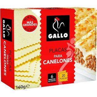CANELONES GALLO 20 PLACAS 160g
