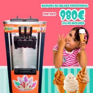 Maquina de helado soft, yogurt helado y granizado