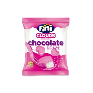 CLOUDS CORAZONES CHOCOLATE FRESA BX80GRS