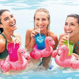 Soporte Hinchable para Latas Intex 3 pcs Flamingo (33 X 25 cm) - Imagen 1