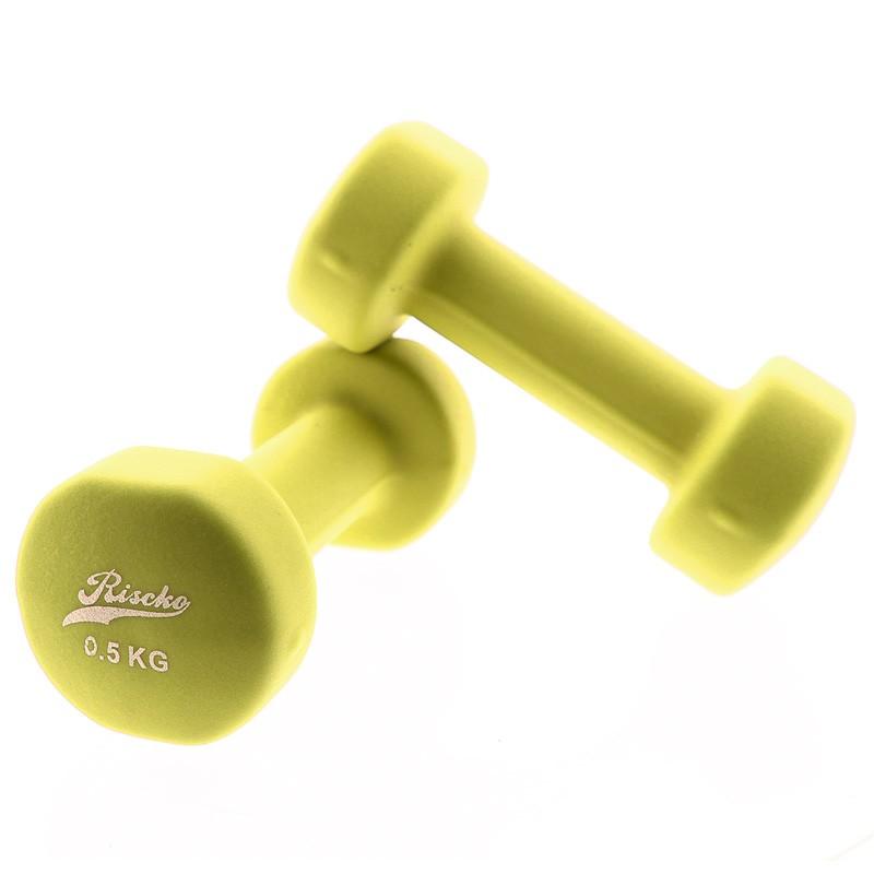 miniatura 2 - Mancuernas de vinilo x2 pesas fitness - Riscko