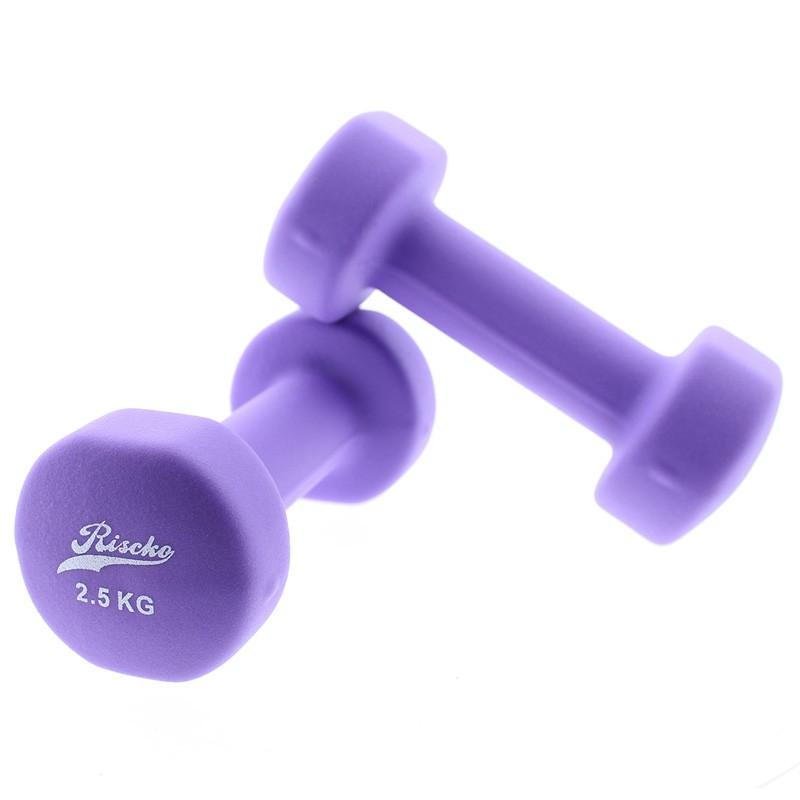 miniatura 4 - Mancuernas de vinilo x2 pesas fitness - Riscko