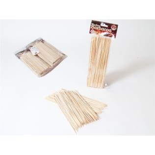 Pinchos bambú barbacoa x100 - 20cm