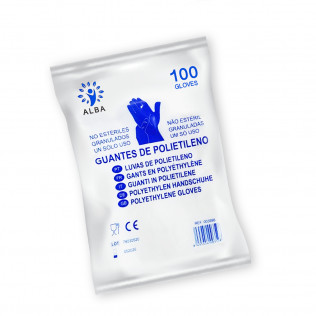 Guantes Desechables de Polietileno | 100 Unidades