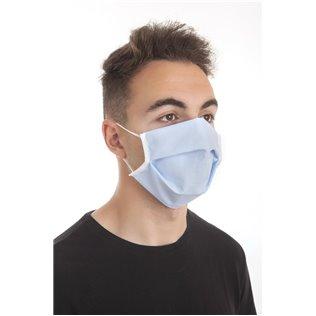 Mascarilla Higiénica Protectora Azul 3 filtros