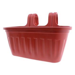 Jardinera balcón plástico rojo ladrillo