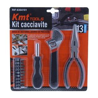 Juego de destornilladores de precisión y herramientas 13 piezas kmt tools