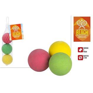 Set 3 pelotas tenis playa gom