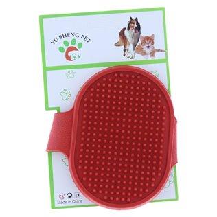 Manopla quitapelos para el baño de perros y gatos 43017