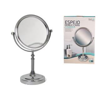 Espejo doble cara 16 cm c/ aumento 2x