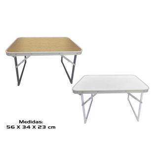Mesa camping aluminiio 56x34x23cm 2 std