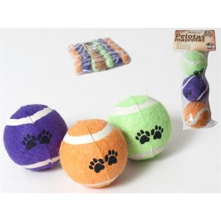 Set 3 pelotas mascotas 6 cm