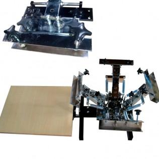 Máquina serigrafía pulpo 4 brazos 1 estación microregistro