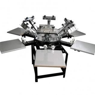 Máquina serigrafía pulpo 6 brazos 6 estaciones