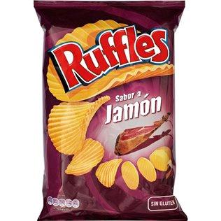 Patatas ruffles jamon 160grs