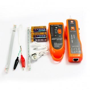 Verificador de cables de red y teléfono