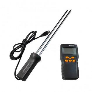 Medidor detector de humedad y temperatura para cereales