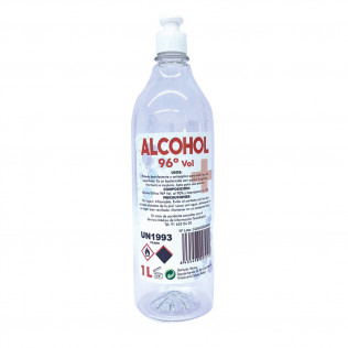 Alcohol Etílico 96º Botella de 1L | Con Dosificador