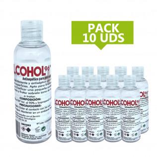 PACK ALCOHOL 96º 100 ML |10 UDS