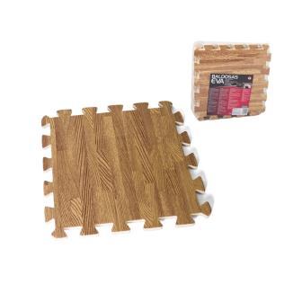 Baldosas eva x9 32 cm - color madera-